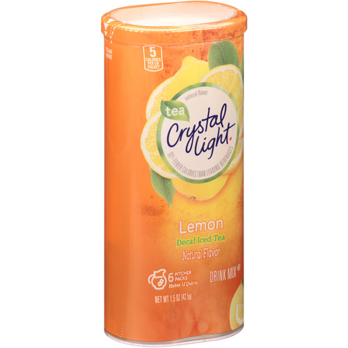 Crystal Light Decaffeinated Natural Lemon Iced Tea Drink Mix, 1.5 oz