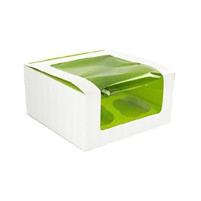 Packnwood 209BCKF4 Green Cupcake Box With Window
