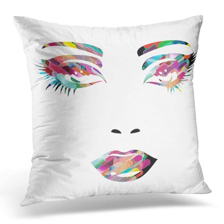 CMFUN Sexy Colorful Girl Face Makeup Pillow Case Pillow Cover 20x20 inch -  Walmart.com bc828e3ec9