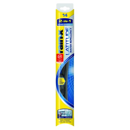 Rain-X Latitude Water Repellency 2-IN 1 Windshield Wiper Blade 14 Inch Refill Replacement - 5079272-2