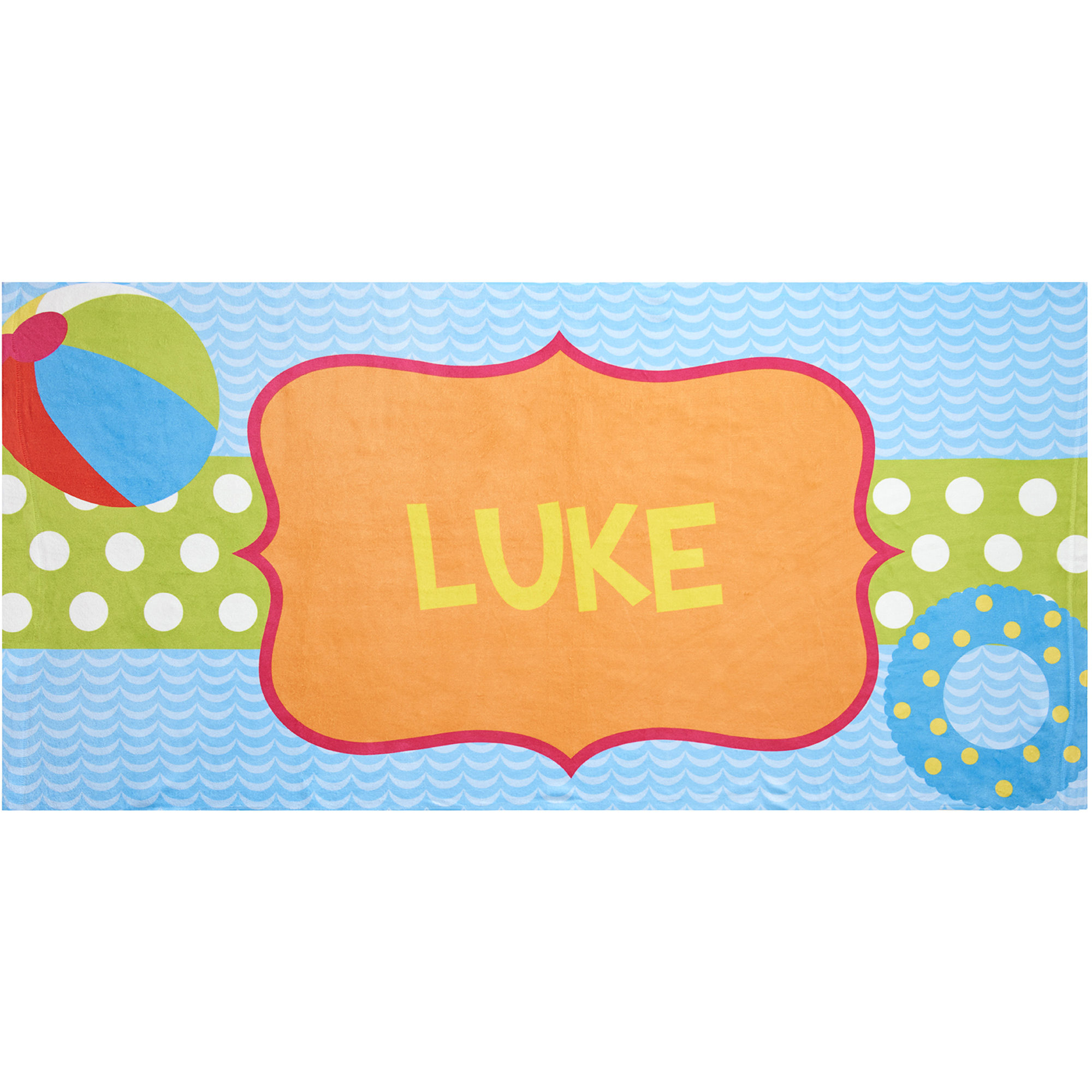 Personalized Pool Fun Beach Towel
