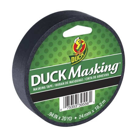 - Duck Black Masking Tape, 0.94 in. x 20 yd.