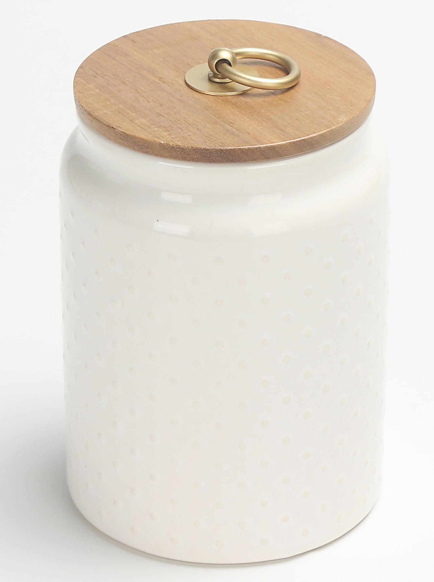 Better Homes & Gardens Ceramic Medium Dot Hobnail Canister