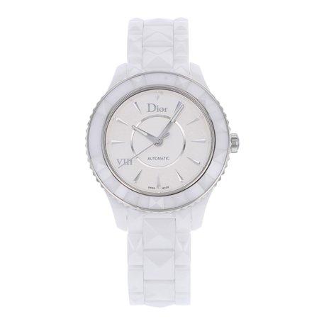 VIII Automatic White Dial White Ceramic Ladies Watch CD1245E3C001
