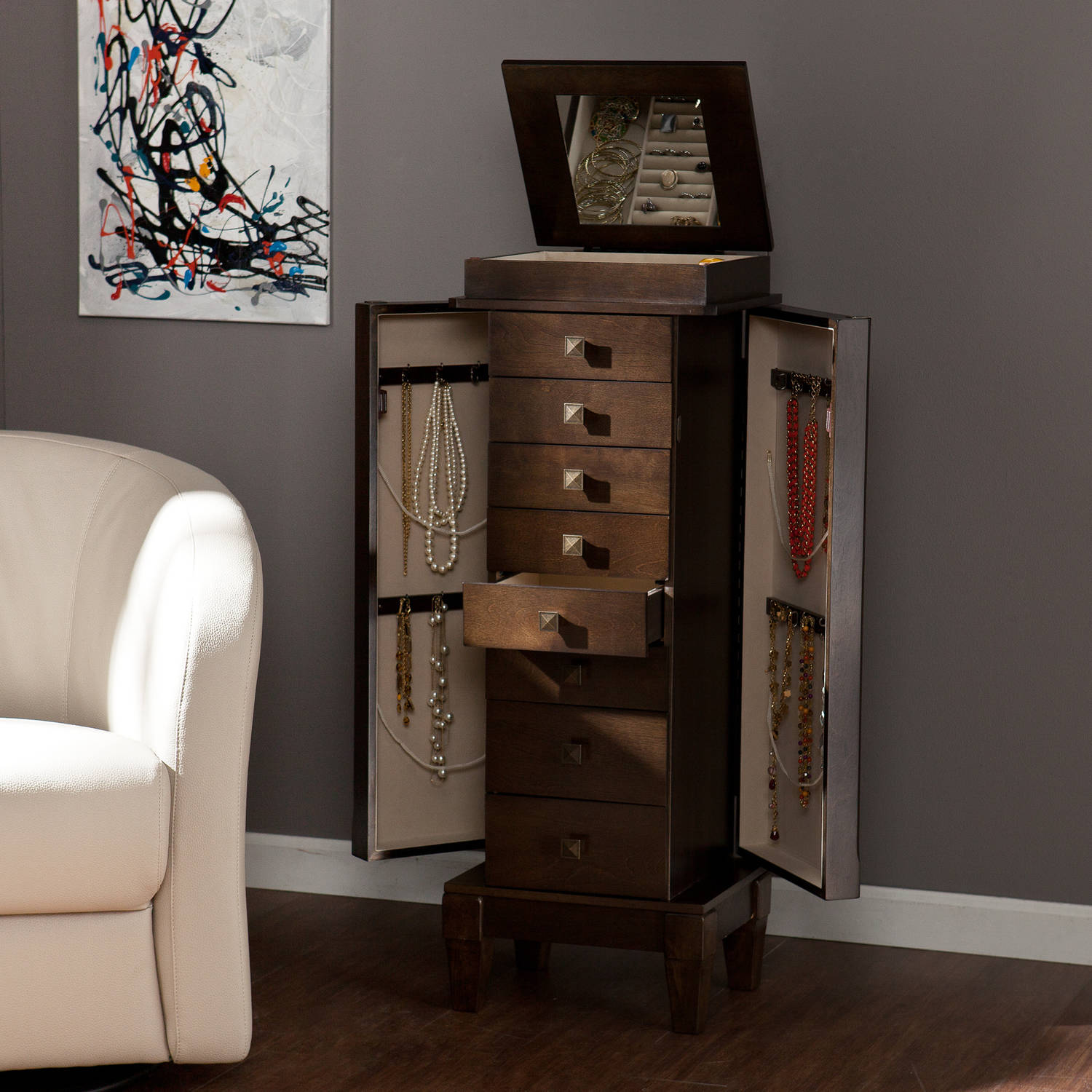 Southern Enterprises Crissy Jewelry Armoire
