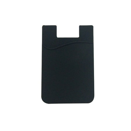 Pocket Cell Phone Jammer (Fashion Simple Adhesive Silicone Card Pocket Money Pouch Case for Cell)