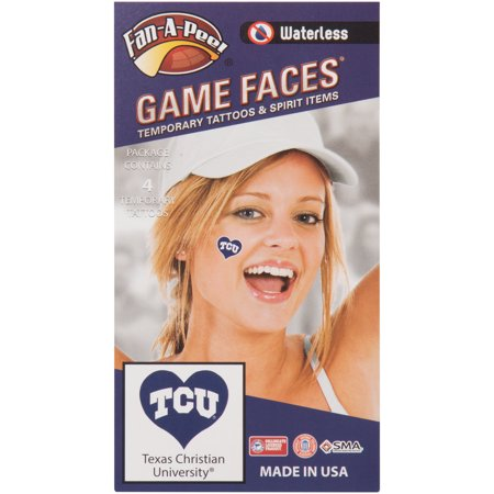 TCU Horned Frogs I Love My U 4-Pack Waterless Tattoos - No Size