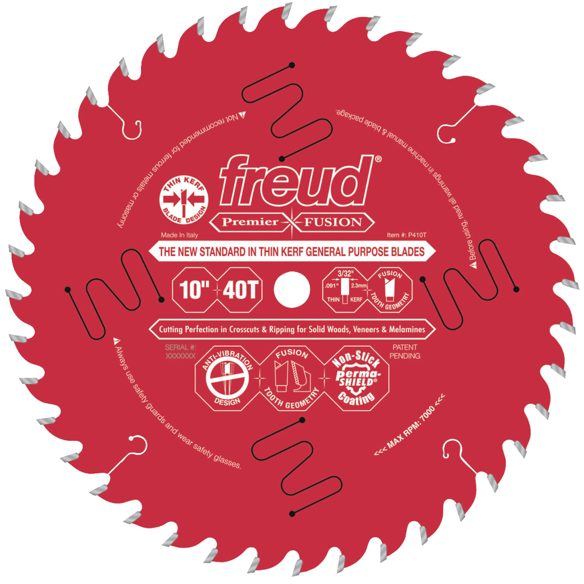 "Freud P410T 10"" x 5/8"" 40t Hi-ATB .091 General Purpose Saw Blade"