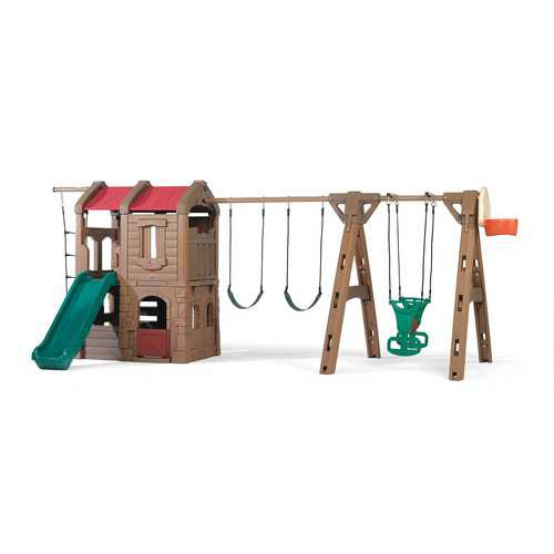 Step2 88.5'' x 201'' Adventure Lodge Play Center Swing Set