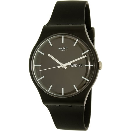 Swatch Men's New Gent SUOB720 Black Silicone Swiss Quartz Diving Watch ()