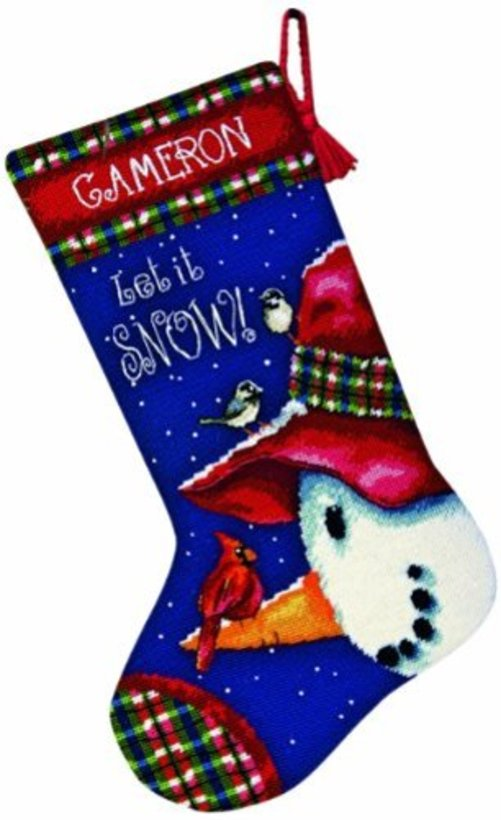 """Dimensions Snowman Perch Needlepoint Kit, 13"""" x 20"""" by Generic"""