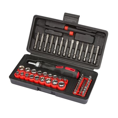 tekton 2846 55 pc ratchet screwdriver bit and socket set. Black Bedroom Furniture Sets. Home Design Ideas