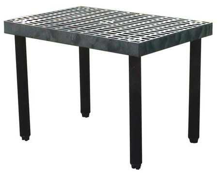 Black; Number of Shelves: 2 Structural Plastics 66 x 16 x 48 Plastic Bulk Storage Rack Starter Unit Pack of 10 S6616B
