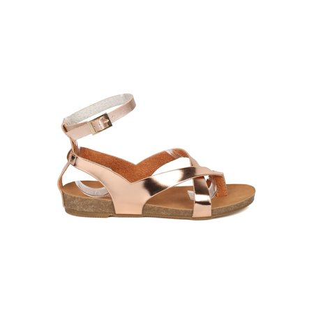 334e301b7548 Alrisco - New Women Refresh Whisper-03 Metallic PU Strappy Footbed ...