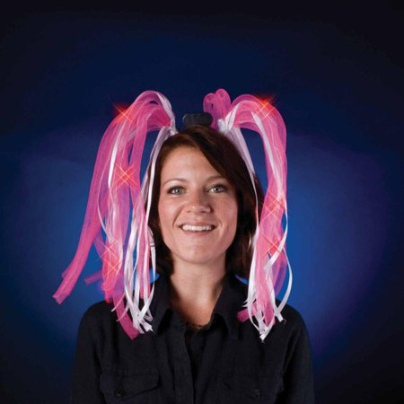 Light Show Pink LED Dreads Costume Headband - image 1 of 1