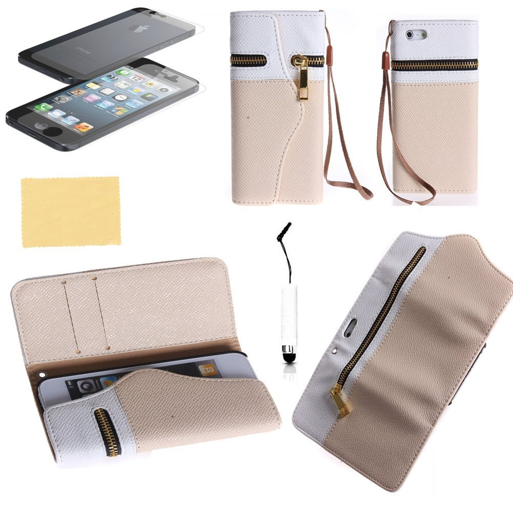 TCD iPhone 4 4S Elegant Travel Zipper Wallet PU Leather Case Cover