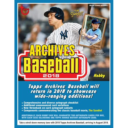 2018 Topps Archives Baseball Hobby Edition Factory Sealed 24 Pack Box (Basketball 24 Pack Box)