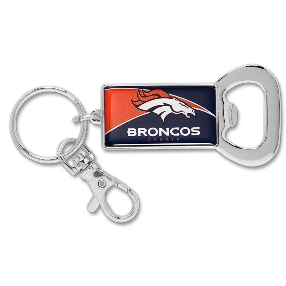 Denver Broncos WinCraft Bottle Opener Key Ring Keychain - No Size