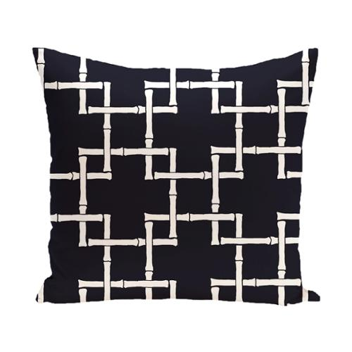 E by Design Geometric Bambies 1 Pillow