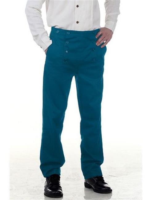 The Pirate Dressing C1403 Architect Mens Hundred Percent Cotton Pants, Blue - 3XL