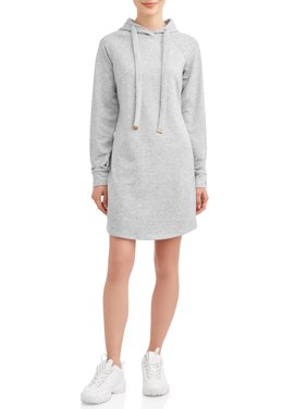 No Boundaries Juniors' Fleece Hoodie Dress