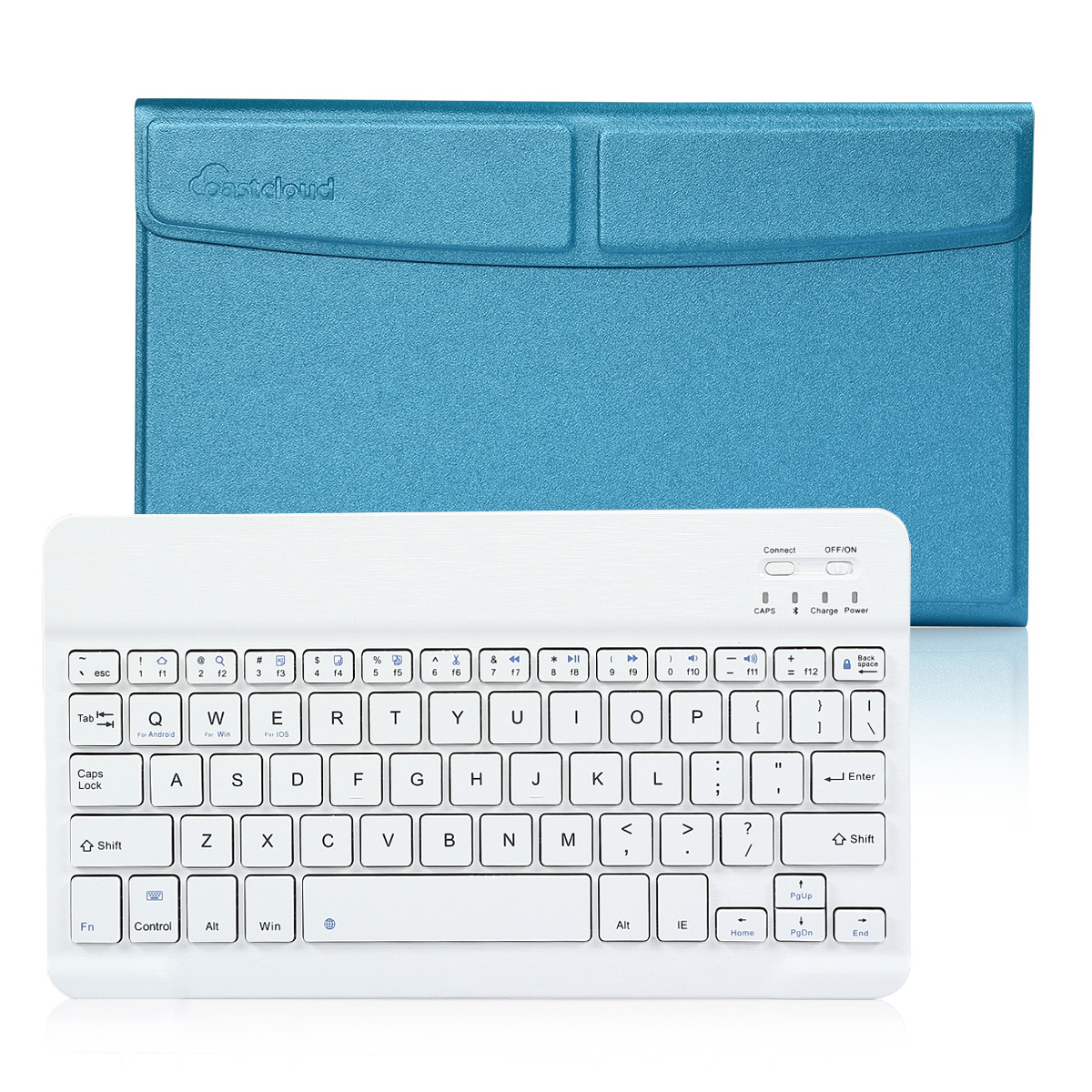 Business Pro Ultra Slim Wireless Bluetooth Keyboard with Protective Case Stand For Apple 2017 New iPad, iPad 2 3 4, Pad Air, iPad Pro and All IOS Android Windows Tablet Black