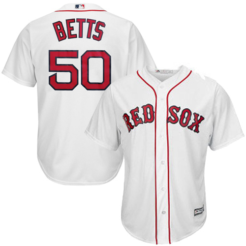 Mookie Betts Boston Red Sox Majestic Cool Base Player Jersey - White