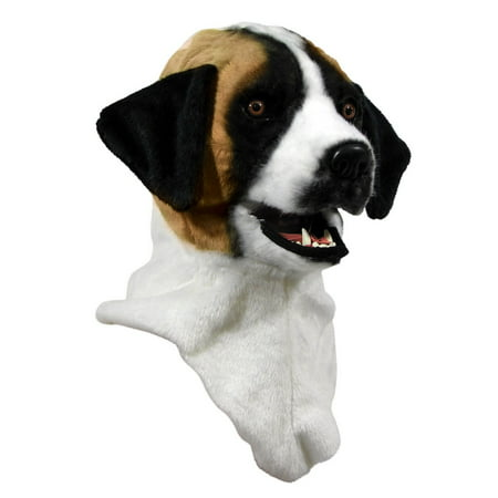 Moving Jaw St. Bernard Mask Halloween Costume Accessory - Moving Halloween Masks