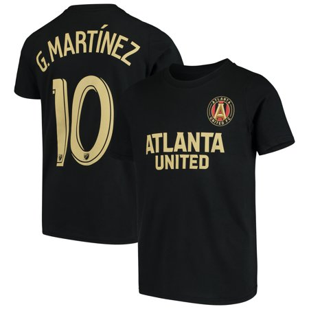 Gonzalo Martinez Atlanta United FC Youth Name & Number T-Shirt - Black (Fc Youth Home Jersey)
