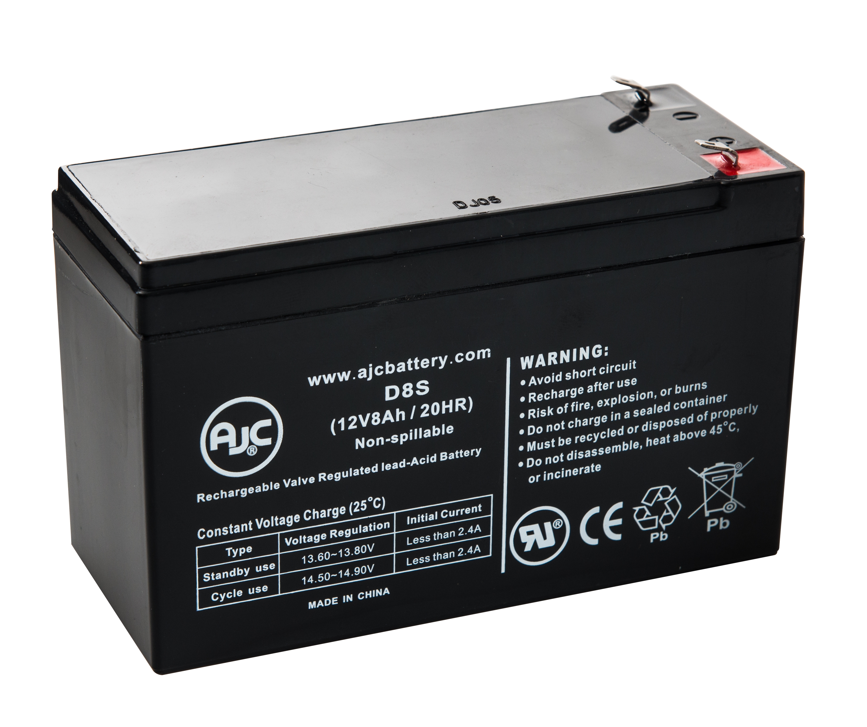 APC Back-UPS ES 500 BE500U 12V 8Ah UPS Battery This is an AJC Brand Replacement by AJC Battery