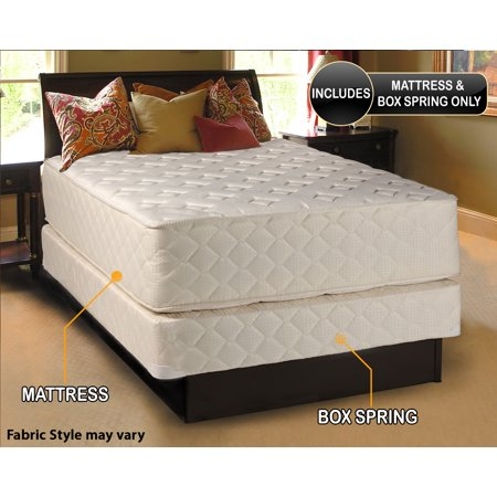 Highlight Luxury Firm King Size  76  X80  X14    Mattress   Box Spring Set   Fully Assembled   Spinal Back Support  Innerspring Coils  Premium Edge Guards  Longlasting Comfort By Dream Solutions Usa