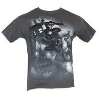 Marvel Comics Mens T-Shirt - Grayscale Spidery Black Panther Thor Alley Attack