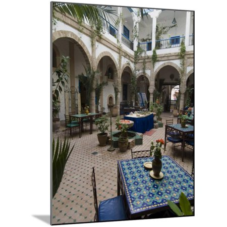 Riad Al Madina, Essaouira, Morocco, North Africa, Africa Wood Mounted Print Wall Art By Ethel Davies