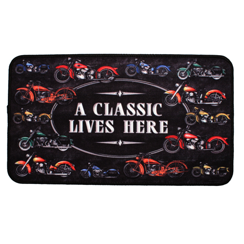 River's Edge A Classic Motorcycle Door Mat