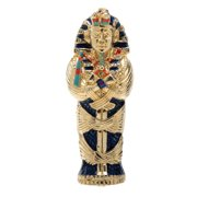 King Tut Coffin Jeweled Box Collectible Egyptian Decoration Container