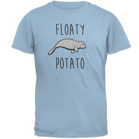 New Potatoes Clothes (Floaty Potato Manatee Light Blue Adult T-Shirt )