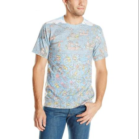 Men's Where's Waldo Map Sublimation T-Shirt - Waldo Tshirt