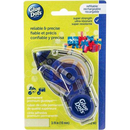 Glue Dots Permanent Glue Tape Dispenser, 39'