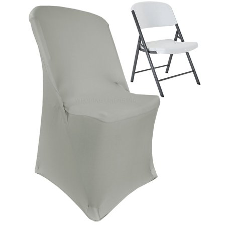 Swell Wedding Linens Inc Lifetime Spandex Stretch Fitted Folding Chair Covers Wedding Party Decoration Chair Cover Silver Bralicious Painted Fabric Chair Ideas Braliciousco
