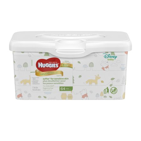 Huggies Natural Care Baby Wipes Unscented Tub 64 Count