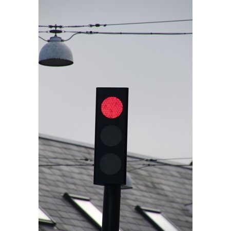 - LAMINATED POSTER Light Stop Signal Lights Red Traffic Lights Poster Print 24 x 36