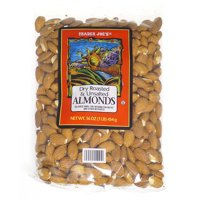 """""""Trader Joe's Dry Roasted & Unsalted Almonds, 16 Ounce"""""""