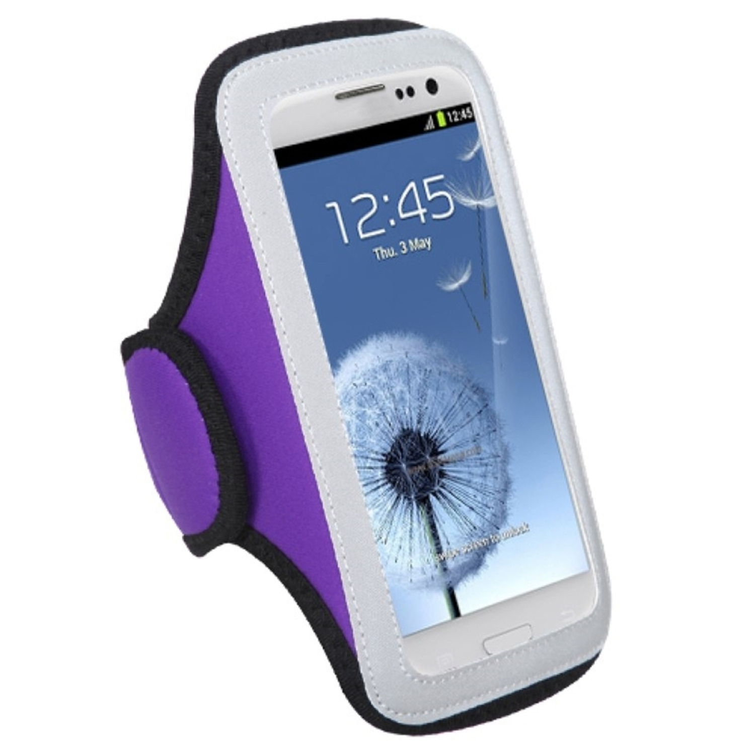 Insten Vertical Pouch Universal Purple Sport Armband Case Cover