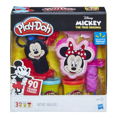 Play-Doh Disney 90th Anniversary Mickey and Minnie Tools Set with 3 Cans of Dough](Playdough Tools)