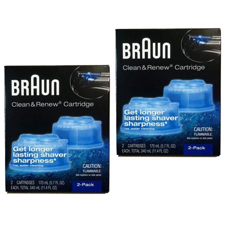 Clean and Renew 4 Pack, An alcohol based cleaning solution By Braun ()