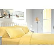Clara Clark 1800 Series Deep Pocket 4pc Bed Sheet Set Queen Size, Custard Mellow Yellow