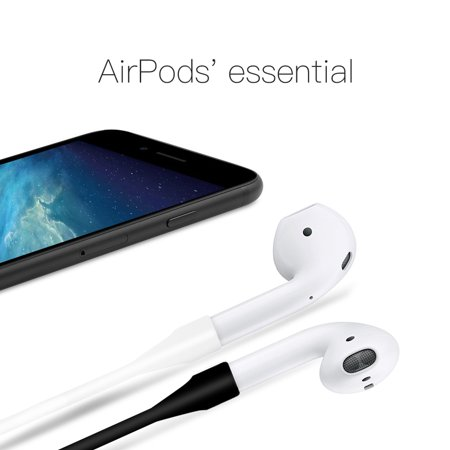 pretty nice ea182 d52d8 2 Pack AirPods Strap, iPhone 7 / iPhone 7 Plus Air Pods Sport Wire Cable  Connector Silicone Strap for Apple Airpods