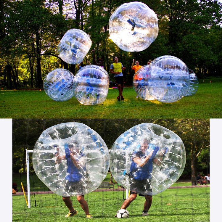 1.2M Diameter Human Knocker Bubble Soccer Football Transparent PVC Balls Inflatable Boys... by YKS