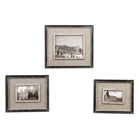 Uttermost 3 Panel - Uttermost 18537 Kalidas Photo Frames - Set of 3