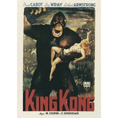 Framed Art For Your Wall King Kong 1933 Laminated Movie Poster Version 5 Print 24 X 36 10x13 Frame